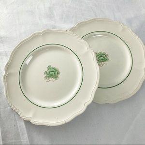 Vintage salad plates 2 fine china Johnson Bros